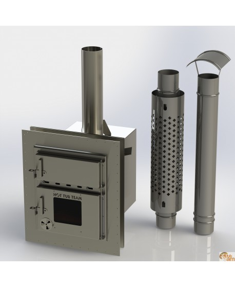 Integrated stove for plastic hot tubs KKI Np-01