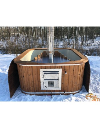 Integrated stove for hot tubs