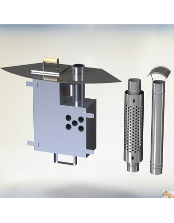 Intenal hard fuel stove KL Al-60 [10,6 KW]