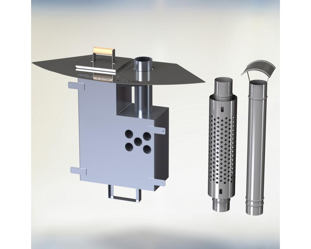 Intenal hard fuel stove KL Al-60 [10,6 KW]