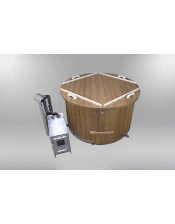 Comfortable fiberglass lined hot tub 160 cm