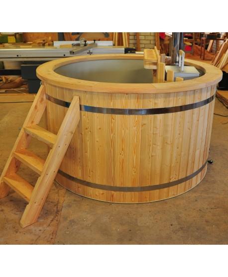 plastic larch hot tub