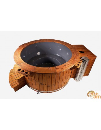Hot tub with gas heating