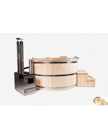 Wooden hot tub from spruce