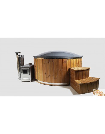Hot tub made of fiberglass for 6 people