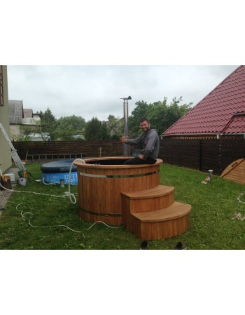 plastic thermowood hot tub