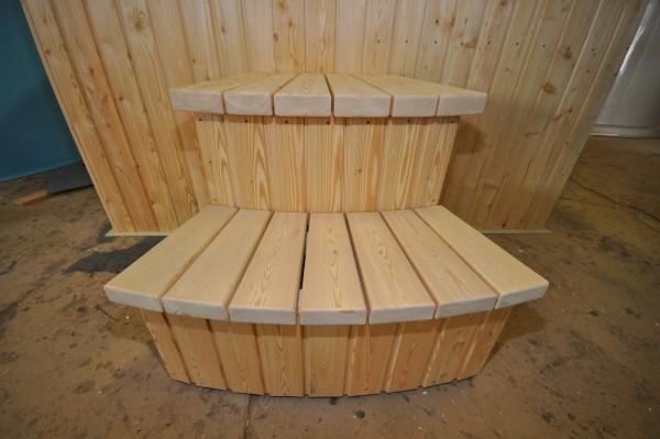 square shape plastic hot tub with spruce trim