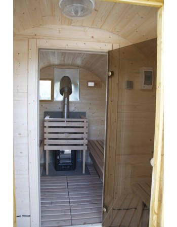 sauna (inclined roof)