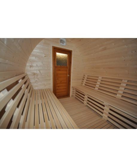 Small outdoor sauna